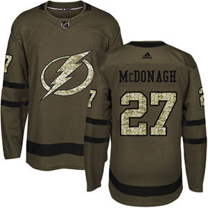 Men's  Tampa Bay Lightning #27 Ryan McDonagh Green Salute to Service Stitched Hockey Jersey