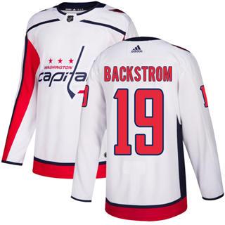 Men's  Washington Capitals #19 Nicklas Backstrom White Road  Stitched Hockey Jersey