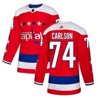 Men's  Washington Capitals #74 John Carlson Red Alternate  Stitched Hockey Jersey