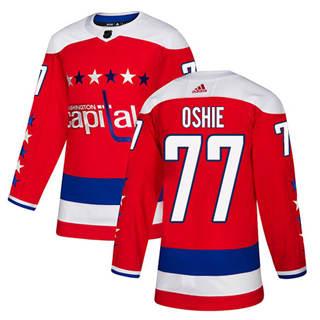 Men's  Washington Capitals #77 T.J. Oshie Red Alternate  Stitched Hockey Jersey