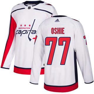 Men's  Washington Capitals #77 T.J. Oshie White Road  Stitched Hockey Jersey