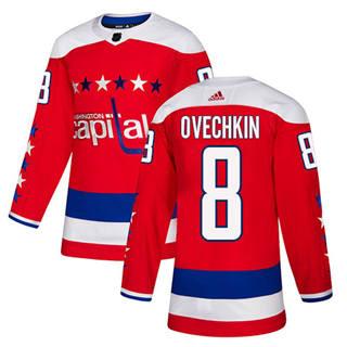 Men's  Washington Capitals #8 Alex Ovechkin Red Alternate  Stitched Hockey Jersey