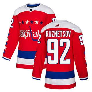 Men's  Washington Capitals #92 Evgeny Kuznetsov Red Alternate  Stitched Hockey Jersey