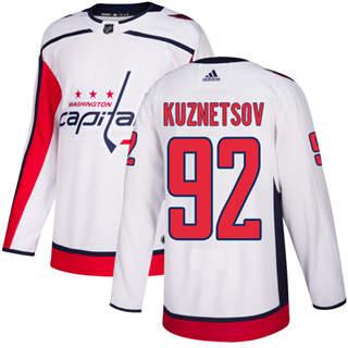 Men's  Washington Capitals #92 Evgeny Kuznetsov White Road  Stitched Hockey Jersey