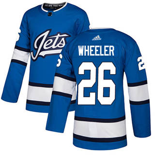 Men's  Winnipeg Jets #26 Blake Wheeler Blue Alternate  Stitched Hockey Jersey