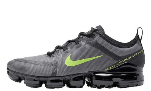 Men's Air VaporMax 2019 Shoes Dark Charcoal Grey Stark Black Bold Volt CI6400-001