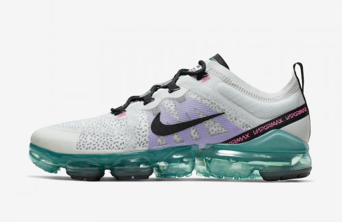 Men's Air VaporMax 2019 Shoes Platinum Tint Black-Aurora Green AR6631-009