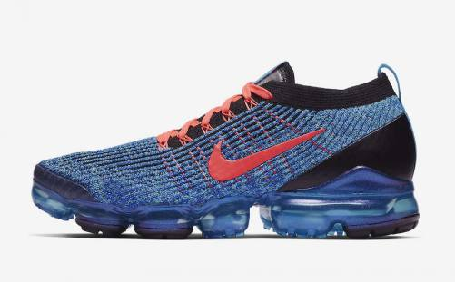 Men's Air VaporMax Flyknit 3.0 Blue Fury Shoes Blue Fury Flash Crimson Racer Blue Black AJ6900-401