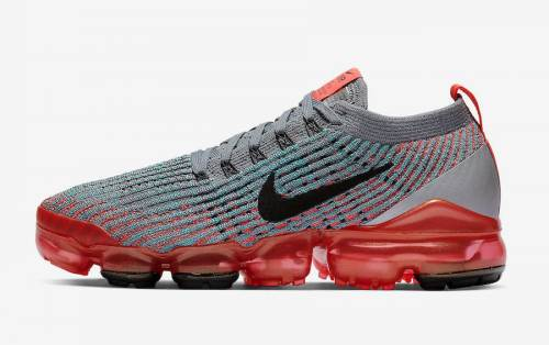 Men's Air VaporMax Flyknit 3.0 Bright Mango Shoes Bright Mango Pure Platinum Black White Metallic Silver AJ6900-800