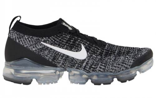 Men's Air VaporMax Flyknit 3.0 Oreo Running Shoes Black White Metallic Silver AJ6900-002