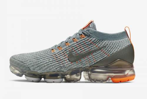 Men's Air VaporMax Flyknit 3.0 Shoes Blue Grey Orange AJ6900-003