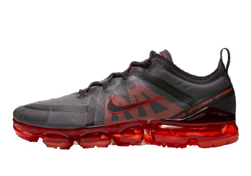 Men's Air Vapormax 2019 Shoes Dark Stone Grey Hot Red Black AR6631-601