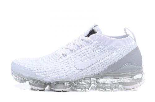 Men's Air Vapormax Flyknit 3.0 Trainers White Silver AJ6900-101