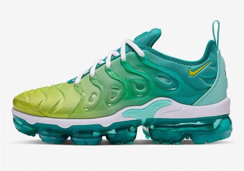 Men's Air Vapormax Plus Lemon Lime Shoes Spirit Teal Tropical Twist White Cyber CI9900-300