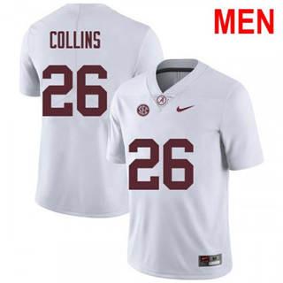 Men's Alabama Crimson Tide #26 Landon Collins White 2019 College Football Jersey