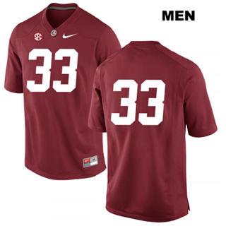 Men's Alabama Crimson Tide #33 Anfernee Jennings Scarlet No Name College Football Jersey
