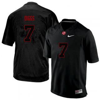 Men's Alabama Crimson Tide #7 Trevon Diggs Black Lights Out College Football Jersey