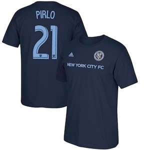 Men's Andrea Pirlo New York City FC  Male Adult 2017 MLS Player Name and Number T-Shirt - Navy