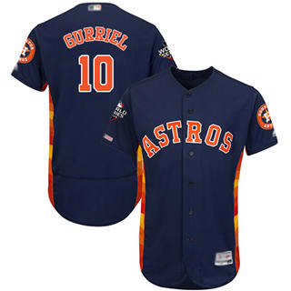 Men's Astros #10 Yuli Gurriel Navy Blue Flexbase Authentic Collection 2019 World Series Bound Stitched Baseball Jersey
