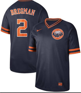 Men's Astros #2 Alex Bregman Navy  Cooperstown Collection Stitched Baseball Jersey