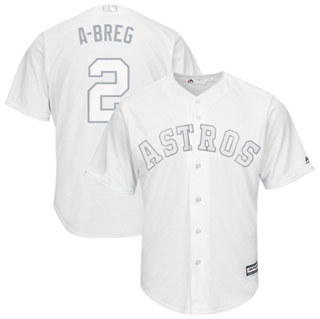 Men's Astros #2 Alex Bregman White A-Breg Players Weekend Cool Base Stitched Baseball Jersey