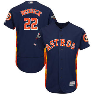 Men's Astros #22 Josh Reddick Navy Blue Flexbase Authentic Collection 2019 World Series Bound Stitched Baseball Jersey