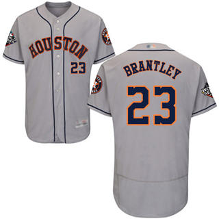 Men's Astros #23 Michael Brantley Grey Flexbase Authentic Collection 2019 World Series Bound Stitched Baseball Jersey