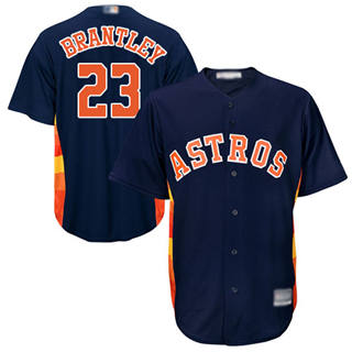 Men's Astros #23 Michael Brantley Navy Blue New Cool Base Stitched Baseball Jersey
