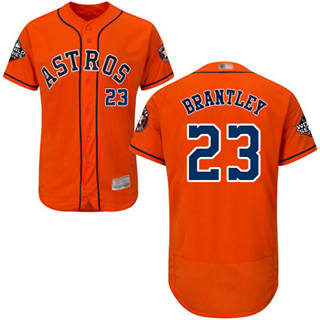 Men's Astros #23 Michael Brantley Orange Flexbase Authentic Collection 2019 World Series Bound Stitched Baseball Jersey