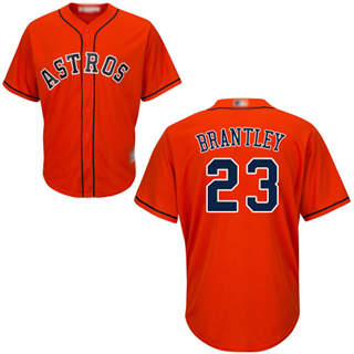 Men's Astros #23 Michael Brantley Orange New Cool Base Stitched Baseball Jersey