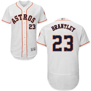 Men's Astros #23 Michael Brantley White Flexbase  Collection Stitched Baseball Jersey