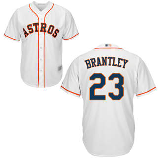 Men's Astros #23 Michael Brantley White New Cool Base Stitched Baseball Jersey