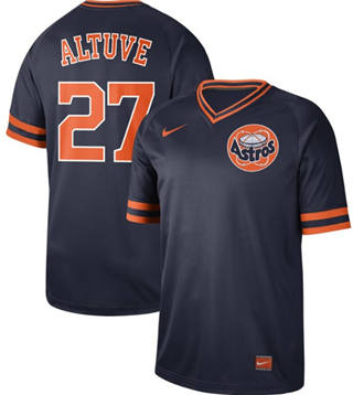 Men's Astros #27 Jose Altuve Navy  Cooperstown Collection Stitched Baseball Jersey
