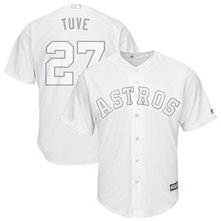 Men's Astros #27 Jose Altuve White Tuve Players Weekend Cool Base Stitched Baseball Jersey