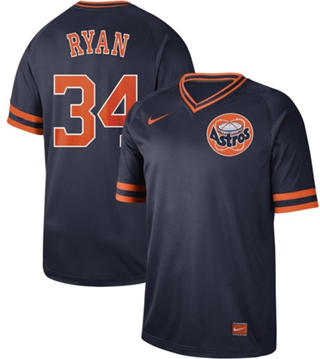 Men's Astros #34 Nolan Ryan Navy  Cooperstown Collection Stitched Baseball Jersey