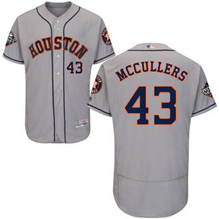 Men's Astros #43 Lance McCullers Grey Flexbase Authentic Collection 2019 World Series Bound Stitched Baseball Jersey