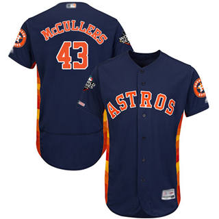 Men's Astros #43 Lance McCullers Navy Blue Flexbase Authentic Collection 2019 World Series Bound Stitched Baseball Jersey