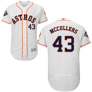 Men's Astros #43 Lance McCullers White Flexbase Authentic Collection 2019 World Series Bound Stitched Baseball Jersey
