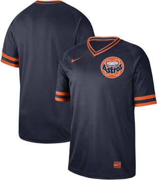 Men's Astros Blank Navy  Cooperstown Collection Stitched Baseball Jersey