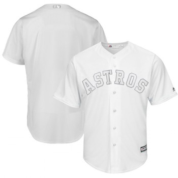Men's Astros Blank White 2019 Players' Weekend Player Jersey