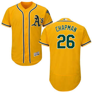 Men's Athletics #26 Matt Chapman Gold Flexbase  Collection Stitched Baseball Jersey