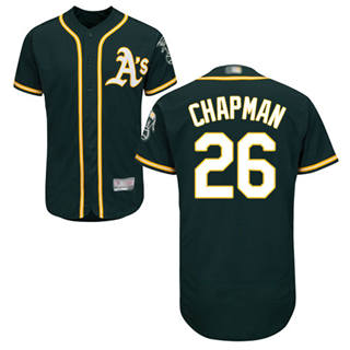 Men's Athletics #26 Matt Chapman Green Flexbase  Collection Stitched Baseball Jersey