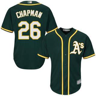 Men's Athletics #26 Matt Chapman Green New Cool Base Stitched Baseball Jersey