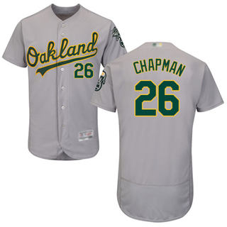 Men's Athletics #26 Matt Chapman Grey Flexbase  Collection Stitched Baseball Jersey