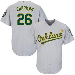 Men's Athletics #26 Matt Chapman Grey New Cool Base Stitched Baseball Jersey