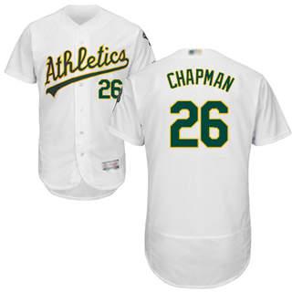 Men's Athletics #26 Matt Chapman White Flexbase  Collection Stitched Baseball Jersey
