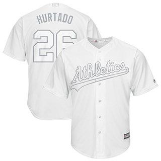 Men's Athletics #26 Matt Chapman White Hurtado Players Weekend Cool Base Stitched Baseball Jersey