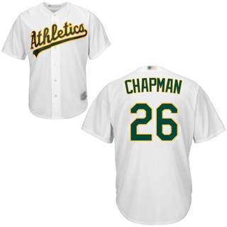 Men's Athletics #26 Matt Chapman White New Cool Base Stitched Baseball Jersey