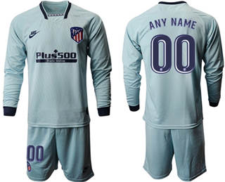 Men's Atletico Madrid Personalized Third Long Sleeves Soccer Club Jersey