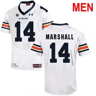 Men's Auburn Tigers #14 Nick Marshall White 2019 College Football Jersey